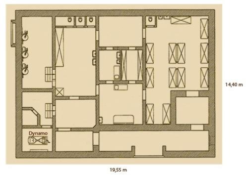 Plattegrond hospitaalbunker